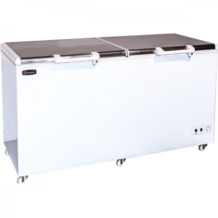 Conquest_CDB520_Two_Solid_stainless_steel_Door_Chest_fridge_freezer