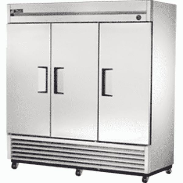 True T 72 Upright 3 Solid Door Fridge Dht Solutions