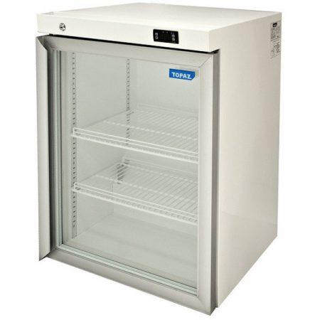 Williams_Topaz_milk_HTM145GDCB_glass_door_fridge_colorbond