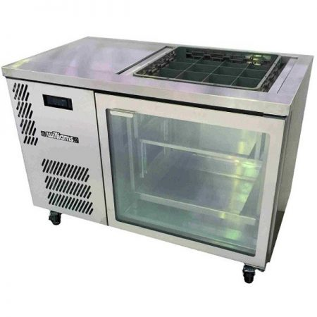 Williams_glass_chiller_GC1UGDSS-one _door_fridge_stainless_steel